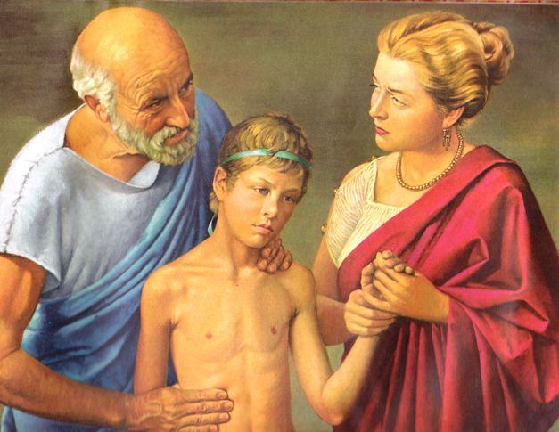 Hippocrates Treats His Patient