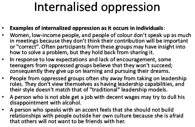 Social Psych 6 Oppression